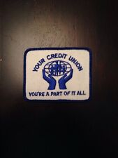 """Credit Union Sew On Patch 3.5"""" Banking Financial"""