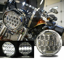 "7"" LED CHROME PROJECTOR DAYMAKER HEADLIGHT FITS HARLEY STREET GLIDE FLHX TOURING"