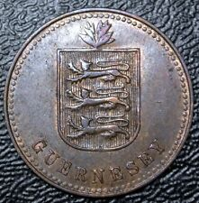 1945 GUERNESEY - 4 DOUBLES - BRONZE - Nice
