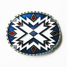 Southwest Indian Rodeo Western Metal Belt Buckle