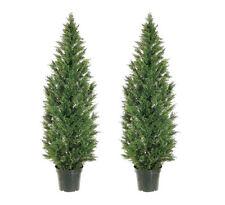 2 Artificial 6' Cedar Topiary Tree In Outdoor Plant Decor  Patio Cypress Pine