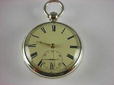 Antique rare M.I.Tobias English Lever Fusee key wind 1832 pocket watch Serviced