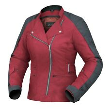 XS 8 Ladies Womens Dririder Cruise Motorbike Jacket Touring $299 Black Red