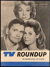 1965 Chicago Sunday American Tv Roundup Guide~BEWITCHED~LIZ MONTGOMERY~RARE COPY