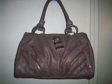 Bebe Mauve Sachi Satchel Bag,new,zip top