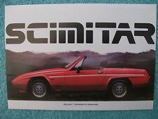 Reliant Scimitar specification brochure 1987 - 1400, 1600, 1800Ti