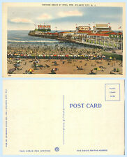 Beach Boardwalk Atlantic City New Jersey Postcard Signage Circus Texaco