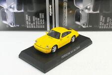 Porsche 911 RS 964 Yellow 1/64 Kyosho Porsche MinicarCollection 6 2015