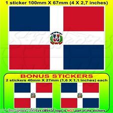 DOMINIKANISCHE REPUBLIK Nationalflagge, Staat-Kriegsflagge Aufkleber x1+2 BONUS