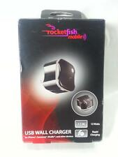 Rocketfish USB Port Wall Charger Block for Mobile Phones RF-AC1U2N, iPhone, 12w