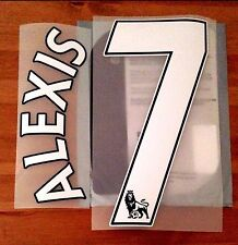 2016-17 Arsenal Home & 3rd Away Shirt ALEXIS#7 PS-Pro SportingiD Name Number Set