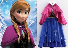 NEW Frozen ANNA Princess Party Dress Up Gown  Girls Costume Size 5/6 (M) Elsa