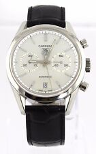 TAG HEUER CARRERA CV2115.FC6180 AUTO CHRONOGRAPH CLASSIC MOTHER OF PEARL WATCH