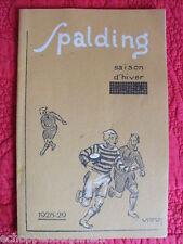 Spalding & Bross, fournisseur officiel des jeux olympiques Paris brochure 1924