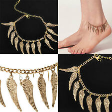 Women Simple Angle Wings Chain Anklet Ankle Bracelet Sandal Beach Foot