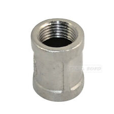 """1/2"""" Female x 1/2"""" Female Couple Stainless Steel 304 Threaded Pipe Fitting NPT"""