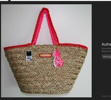 JUICY COUTURE Picnic in The Park Straw Tote NWT