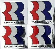"""Robinson BMX MADE IN USA Seatpost Handlebar """"R"""" decals 1987-90 (SET OF 4) CHROME"""