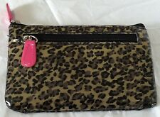 Rolfs Brown/Pink Leather Organizer Wallet Card Holder Zip Around And Pull Out ID