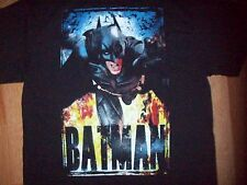 NEW MEN'S BATMAN T-SHIRT SZ L THE DARK KNIGHT RISES BLACK DC COMICS NWOT