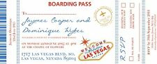 Sample Wedding Invitation Destination Board Pass Las Vegas!The Invite Shack