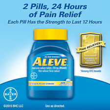 Aleve Pain Reliever Fever Reducer 320 Caplets - Naproxen Sodium - 220 MG