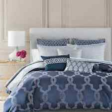 $400! NWT Hudson Park Gramercy Blue KING Duvet Cover - GORGEOUS!