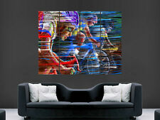 BIKE RACING CYCLING  DIGITAL  ART WALL LARGE IMAGE GIANT POSTER