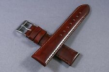 20mm Brown Patent Genuine Leather Watch Band,Strap,Interchangeable,Quick Relese