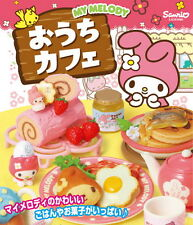 Miniatures Re-ment Sanrio My Melody Ouchi Cafe food  box  Set  , h#1