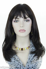 Dark Brown Brunette Long Medium Skin Top Wavy Straight Wigs