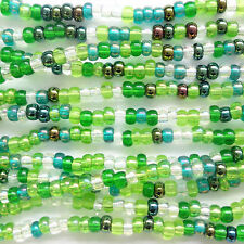 18g Checa Seed Beads Mini hank11/0-Evergreen-zs05