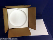 "5 SETS OF POSTAL PACKAGING FOR 10"" PLATES POLYSTYRENE FOAM AND CARDBOARD BOX"