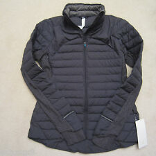 Lululemon Fluff Off Down Jacket Heathered Herringbone Black size 12