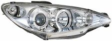 Peugeot 206 Hatch & CC (98-08) Chrome Halo Angel Eye Projector Front Headlights
