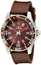 New Mens Invicta 16735 Specialty Brown Dial Polyurethane Watch