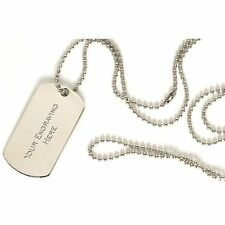 Engraved-Metal-Military-Army-Dog-Tags-ID-Tag-&-Necklace-Engraved Gift