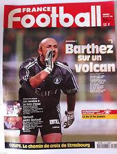 France Football du 20/1/1998; Barthez/ Equippe de France à l'essai/ Djorkaeff