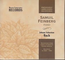 SAMUIL FEINBERG Bach Well-Tempered Clavier, Piano Transcriptions DELUXE 4CD LTD