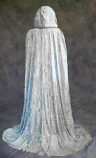 Silver Unlined Velvet Cloak Cape Wedding Wicca Medieval SCA Renaissance Cosplay