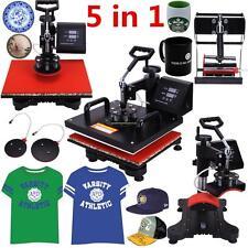 5in1 Heißpresse/Hitzepresse/Transferpresse Überführungsmaschine Mug Hat Plate