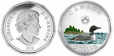 2016 Canadian Loonie Plated Rhodium and Coloured