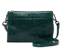 NWT! Hobo International Angie Crossbody Messenger Bag Hunter Green Dustbag $148