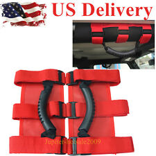 Red Roll Bar Grab Handles 4WD Off Road Accessories For all Jeep Wrangler JK