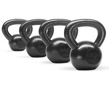New Kettlebell Solid Cast Iron Weight Workout Set 10+15+20+25 lbs - ²KJHJH5