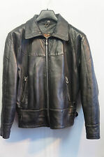 VINTAGE WOMAN'S NOBLE LEATHER  MOTORCYCLE JACKET SIZE  S MADE IN ENGLAND