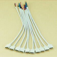 New 10PCS 4Pin Male Connector Cable for 3528 5050 RGB LED light Strips