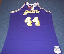 MITCHELL & NESS NBA THROWBACK LOS ANGELES LAKERS JERRY WEST JERSEY SIZE 60