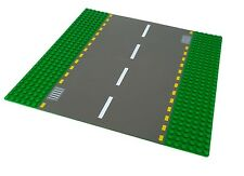 Lego Road Baseplate 44336pb01 Dark Gray Road, Yellow Dashed Lines Storm Drains