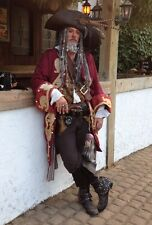 Custom Captain Teague Renaissance Pirate POTC frock coat complete 4pc costume
